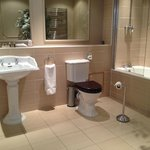 Very large and lots of room for a shower cubicle