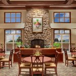 Relax in the inviting dining area.