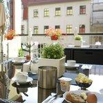 breakfast outside terrace