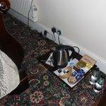hospitality tray on floor