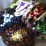 Four Assorted Tacos with Black Beans & Pinto Beans