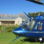 Owners farmhouse and heli landing facility