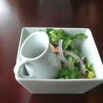 House salad service.