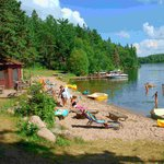 Beach, paddleboats, canoes, kayaks, funbug, SUP, lakeside sauna
