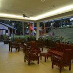 Resort lobby and playground