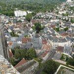 Veduta dalla torre verso Bourges