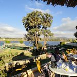 the open segment of breakfast arena by the river nile...
