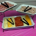 Ham & Roast Beef with Cream Cheese and Cheese tray