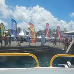 boat dock during the sailing race!
