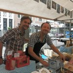 Friendly Greeks selling their authentic delicacies.