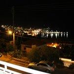 vista dal balcone la notte