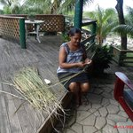 staff making me a sasa broom