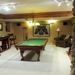 pool table/poker area in the sunset sweet