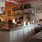 Open kitchen at Tremont Cafe
