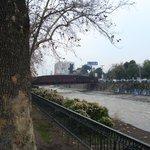 Vista do rio Mapocho.