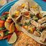 Wild-caught Mahi Tacos with steamed veggies