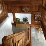 Staircase of resalvaged barn wood