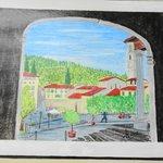 Piazza Mino da Fiesole da sotto il portico della Canonica