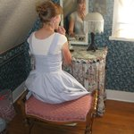 I even tucked items under the skirt of the vanity.