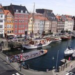 Nyhavn canal view from our corner room!