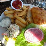 Beer Battered Fish Sandwich.  Very fresh!