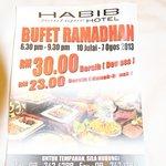 Folder Rhamadan buffet