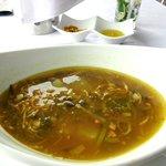 Soupe au chou et lardons