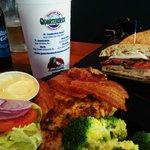 Crab Cake Club And Chicken Ciabatta Sandwiches