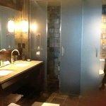Very fancy bathroom-quite elegant!