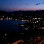 Lugano and lake by noght