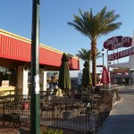 Outdoor as well as indoor dining
