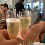 Treated to champagne for brunch and evenings!
