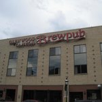 The outside of the Brewpub