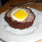 Scotch eggs-part of the meat selection