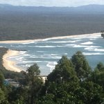 Noosa beach from look-out
