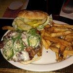 BBQ Bacon Jalapeno Burger & home cut fries