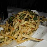 Truffle Parm String Fries w/Sauce... FANTASTIC.