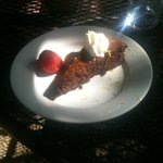 Flourless chocolate cake (served at Kate's Place)
