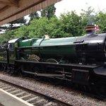 The locomotive at Stratford-Upon-Avon Station