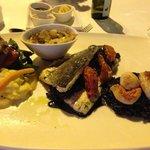 ризотто с сибасом и морепродуктами