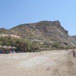 Dafni beach and restaurants