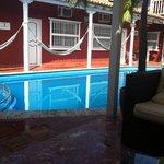Pool and hammocks