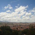 Vista panorâmica da cidade de Sucre a partir do mirante