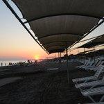 Sunset at hoitel's beach