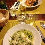 Pesto and sea food...a must !!!