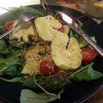 Quinoa Salad with haloumi
