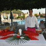 Luigi Zermini about to serve cocktails