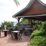 Terrasse vor dem Hotelrestaurant