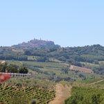 Uitzicht op Montepulciano