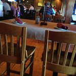 Here is a photo of empty seats in a really bad food establishment.